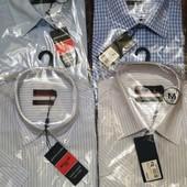 Рубашка короткий рукав  Pierre Cardin. М и L. Белые, голубые, любые.
