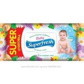 Влажные салфетки SuperFreh 120шт.на опт. суперфреш