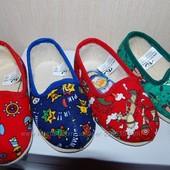 Новые текстильные тапочки для дома и садика Украина