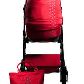 Универсальная коляска 2 в 1 Ajax Group Лыбидь Rubin, красный с орнаментом