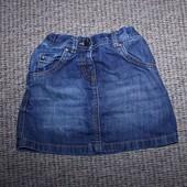 Обалденная юбка джинсовая Next на 3-5 год