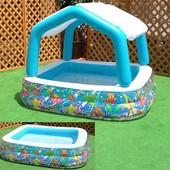 Надувной бассейн Intex со сьемным тентом