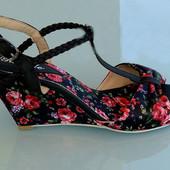 сандалии эспадрильи с цветочным принтом