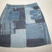 джинсовая юбка Next . 122 см \7 лет