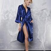 Женский халат короткий и длинный атласный. Реал фото производителя и мои