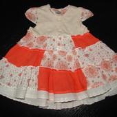 Продам красивое платье F&F 3-6 мес (до 9 мес отлично) состояние нового
