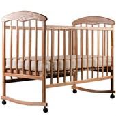 Детская кроватка Наталка (ясень светлый и темный, лак)