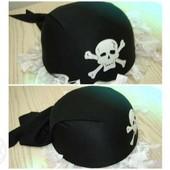Бандана Пиратская, для мужчины. Готовимся к Хэллоуину. Качественная, плотная. На объем 56 см