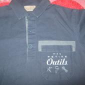 фирменная рубашка из натуральных тканей 2-4 года
