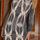 Платье Divided by H&M в обтяжку в стиле оп-арт (арт-деко), 10-12 размер
