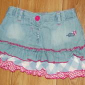 Летняя джинсовая юбочка для девочки 3-5 лет