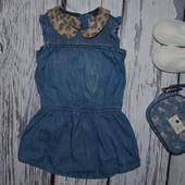 12 - 18 месяцев 80 - 86 см Next некст Обалденное платье сарафан джинсовый