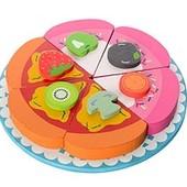 Деревянная игрушка Торт разрезной на магнитах (03142)