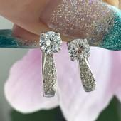 Серьги серебряные сережки Полинка 2243
