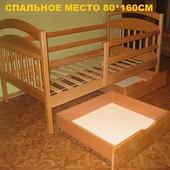 """Детская кровать """"Иринка"""". Комплекты 80*160+матрас Шанс 2+ящики+улитка"""