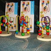 Деревянный пальчиковый лабиринт на проволке развивающая игрушка