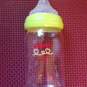 Бутылочка-антиколик с соской Pigeon, стекло, 150 мл