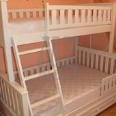 Двухъярусная кровать Жасмин Белая