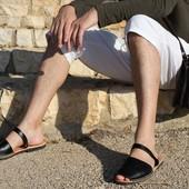 Менорки абаркасы 40-45р мужс, нат. кожа, черный, Испания