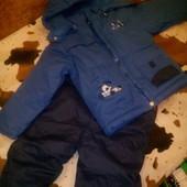 Новый зимний раздельный комплект для мальчика 2-3 года
