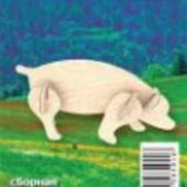 Сборные деревянные модели Свинья от  Мир деревянных игрушек