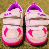 Кроссовки Tom.m, р.21, бело-розовые, в хорошем состоянии