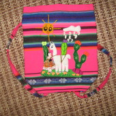 Детский рюкзачок с объемной вышивкой