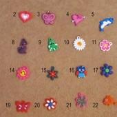 Подвески для браслетов из резинок Rainbow Loom и подобных (чармики)