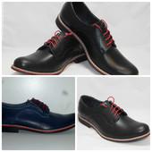 демисезонные мужские кожаные ботинки туфли