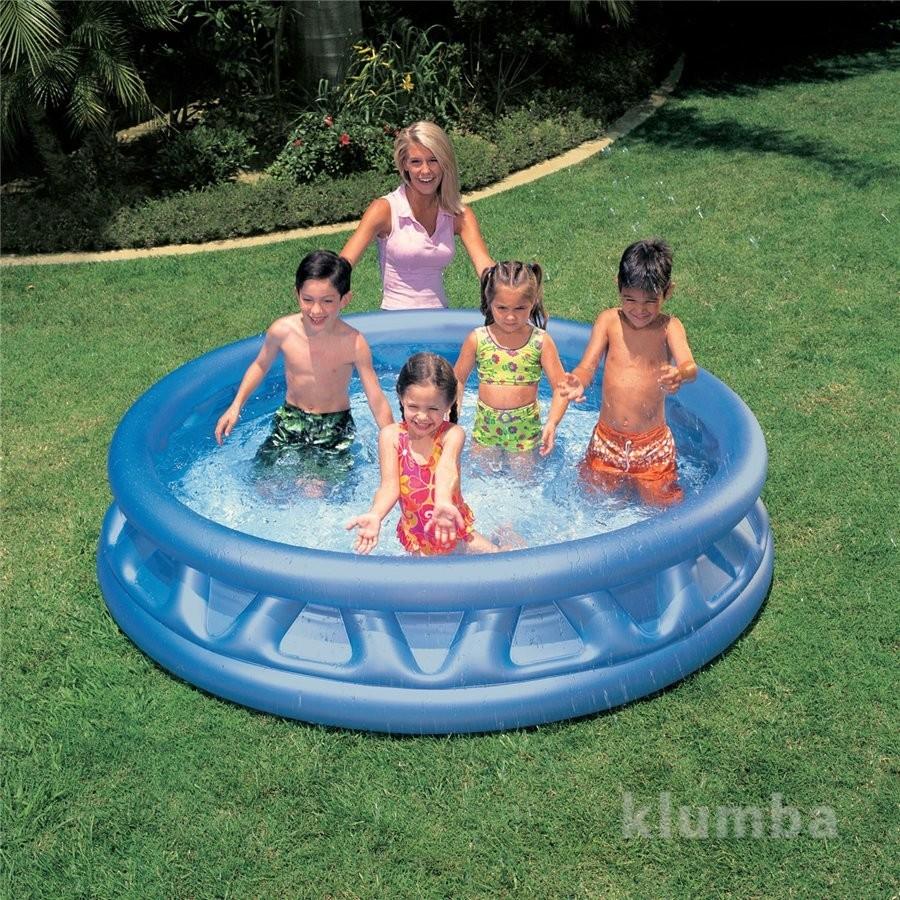Надувной детский бассейн intex 58431 нло, интекс фото №1
