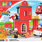 Конструктор детский 5155 Пожарка, JDlT, крупные детали, аналог Лего