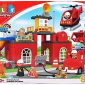 Конструктор детский 5156 Пожарка, JDlT, крупные детали, аналог Лего