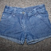Джинсовые шорты тонкие на 6-7 год