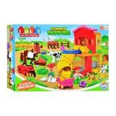 Конструктор 5209 детский Ферма JDlT , крупные детали, аналог Лего