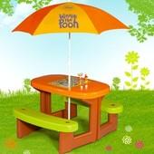 Детский столик для пикника с зонтиком Smoby 310466 «Winnie»