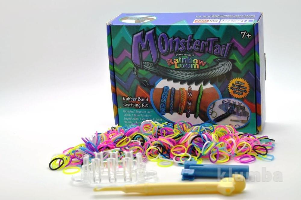Резинки для плетения браслетов monster tail loom bands детский развивающий фото №1
