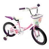 Азимут Ангел 14 20 велосипед Azimut Angel для девочки с корзинкой