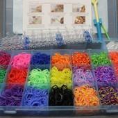 Резинки для плетения браслетов Rainbow Loom 4200 шт. 21 цвет