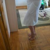 летняя белая юбка, размер М