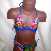 Раздельный купальник для девочки 3   12 лет разные цвета