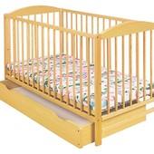Бесплатная доставка. Кроватка детская кlups Radk II с ящиком Сосна