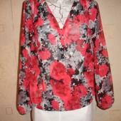 Красивая шифоновая блузка  46-48 размер