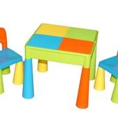 Столик и два стульчика Tega Baby Mamut. Голубой
