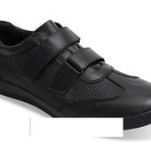 Код: gr227 Мужские кроссовки черного цвета из натуральной кожи!