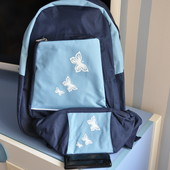 Хорошенький рюкзак с бабочками и сумочка на пояс