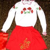 Продам костюм украинский вышиванка юбка 98-104