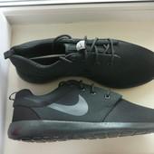 Мужские черные кроссовки Nike Roshe Run 40, 41, 42, 43, 44, 45 Оригинал