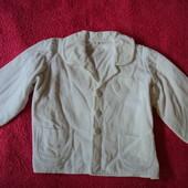 Фирма Chicco пиджак белый вельвет на 1-3 года