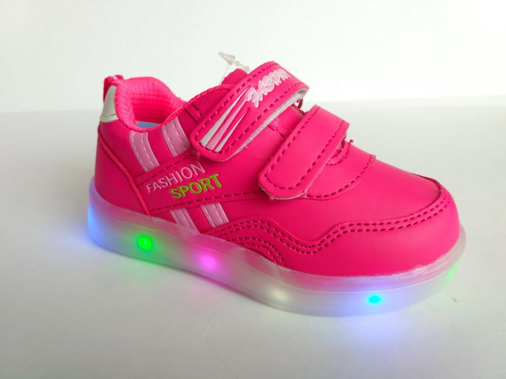 f253a57b1 Модные детские кроссовки с подсветкой бренда ввт для девочки, р. 22-27,