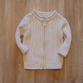 Стиляжный свитерок на молнии от George, размер 6-9 месяцев, будет дольше. Состояние идеальное.